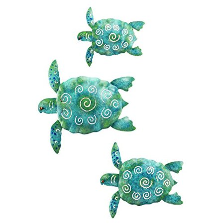 Sea Turtle Beach Ocean Summer Metal Wall Art for Indoor Outdoor Decor