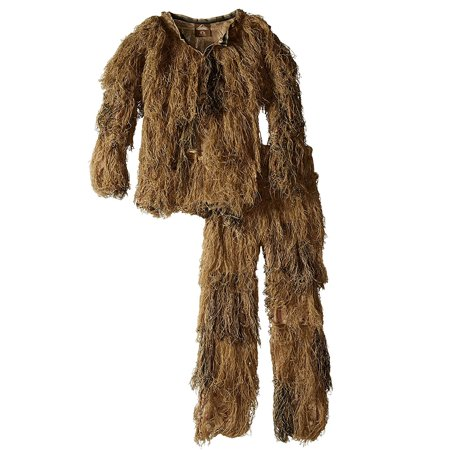 - Red Rock 5-Piece Ghillie Suit Desert Camo Youth Size 10-12