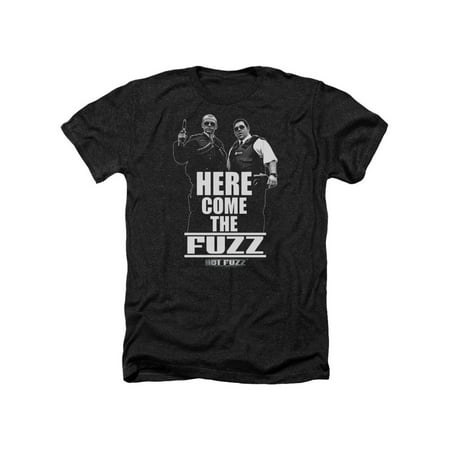 Hot Fuzz Crime Comedy Cop Movie Here Come The Fuzz Adult Heather T-Shirt Tee (Hot Female Cops)
