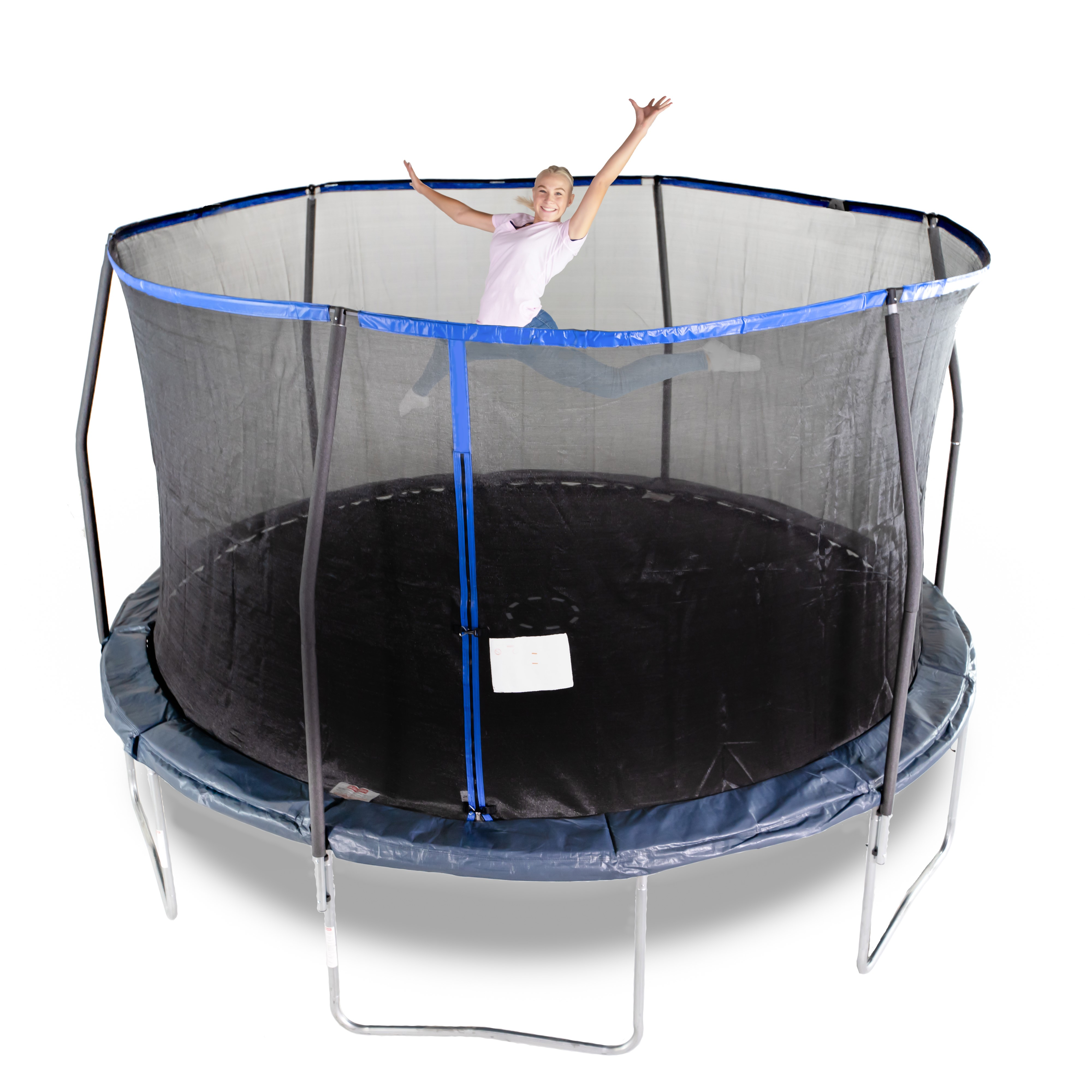 Bounce Pro 14-Foot Trampoline, with Enclosure, Midnight Blue