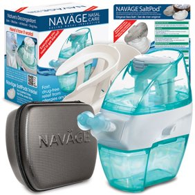 c35006e2ee39 Navage Nasal Irrigation Deluxe Bundle: Navage Nose Cleaner, 48 SaltPod  Capsules, Countertop Caddy, and Travel Case. $162.75 if purchased  separately.