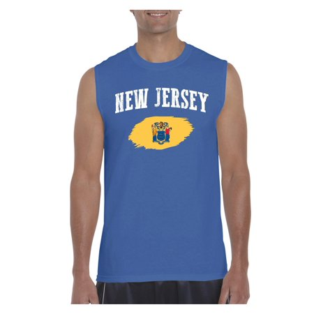Mens New Jersey Flag Ultra Cotton Sleeveless T-Shirt