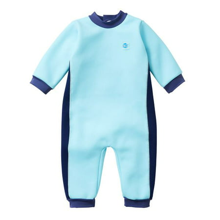 Baby and Toddler Warm In One Fleece Lined Wetsuit Blue CobaltX Large 12-24 - Baby In Led Suit