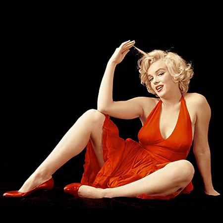 RARE Photograph of Marilyn Monroe  Red Dress 12x12 Printed on Heavy Stock](Marilyn Monroe Dresses)
