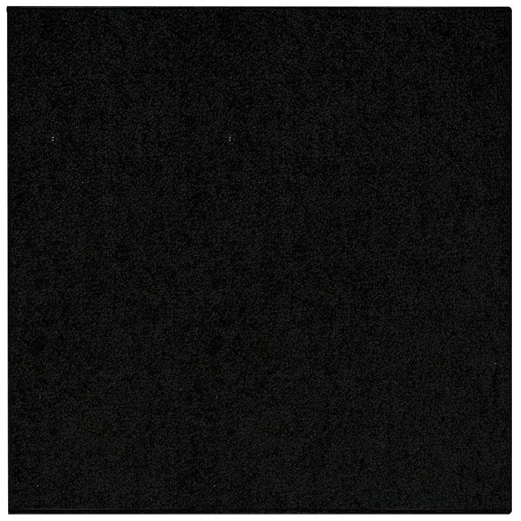 Saturn Collection Solid Color Area Rugs Black - 9' Square