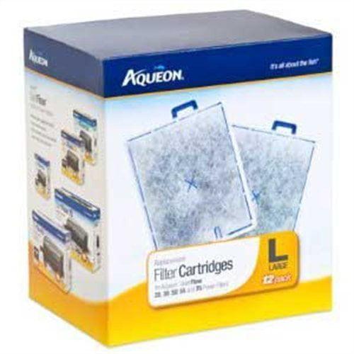 06419 Filter Cartridge, Large, 12-Pack, Fits Aqueon Quiet...
