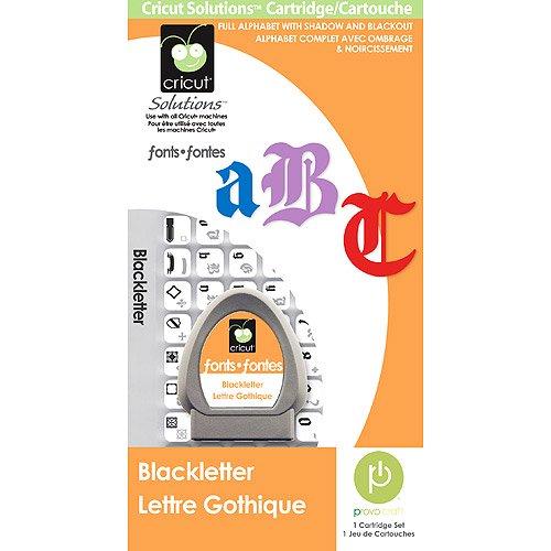 Cricut Solution Cartridge, Black Letter