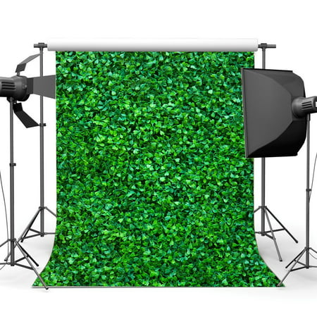 GreenDecor Polyster 5x7ft Four Leaf Clover Backdrop Spring Green Grass Meadow Nature Outdoor Picnic and Hiking Wedding Photography Background Baby Shower Girls Lover Party Decor Photo Studio Props](Baby Girl Background)