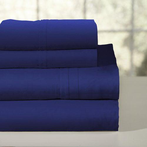 Pointehaven 200 Thread Count 100pct Soft Cotton Percale Sheet Set