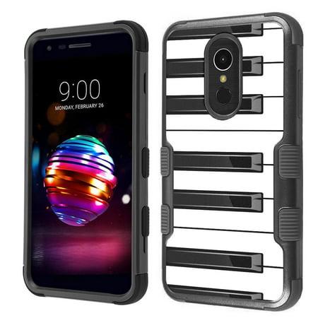 hot sale online 2b321 51dd8 For LG Q7 / Q7 PLUS / Q7+ Case, OneToughShield ® ShockProof 3-Layer  Protector Phone Case (Black) - Piano Design - Walmart.com