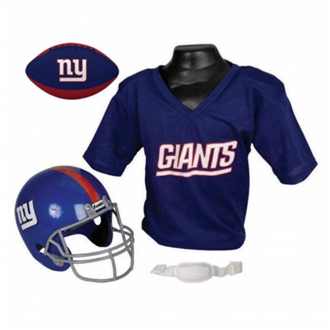 IFS IFS-15720F09-FB New York Giants NFL Youth Size Helmet & Jersey with Team Color Football