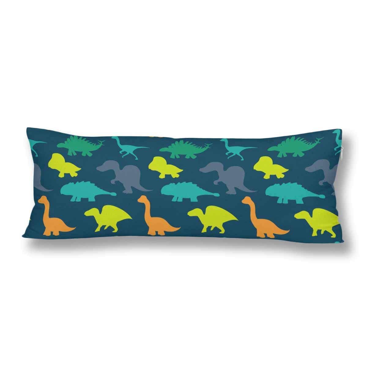 GCKG Cute Cartoon Dinosaurs Body Pillow Covers Pillowcase 20x60 inches, Ancient Animal Body Pillow Case Protector - image 2 de 2