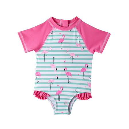 253f6453f Wippette - 1pc Rashguard Swimsuit (Baby Girls & Toddler Girls) - Walmart.com