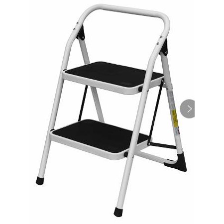 Zimtown Portable Utility Folding 2 Step Ladder, Lightweight Foldable Step  Stool, w/ Wide Pedal, for Kitchen, Office, Bathroom, Garage and Hom Use, ...