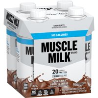 (3 Pack) Muscle Milk 100 Calorie Non-Dairy Protein Shake, Chocolate, 20g Protein, Ready to Drink, 11 fl. oz., 4 ct