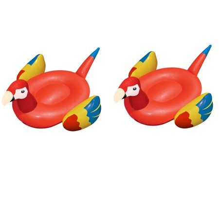 Swimline Swimming Pool Giant Rideable Tropical Parrot Inflatable Toy (2 Pack)](Giant Parrot)