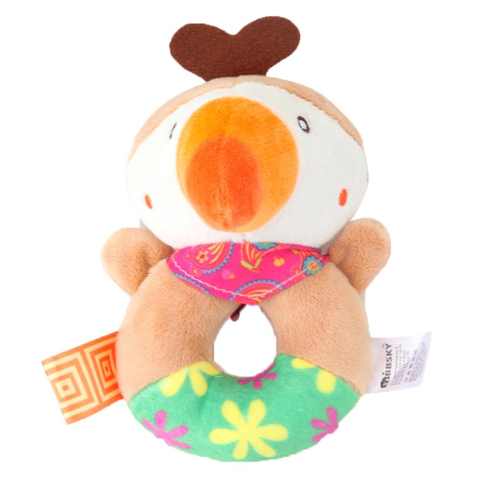 Kids Baby Animal Handbells Musical Developmental Toy Bed Bells Rattle Toys Gift