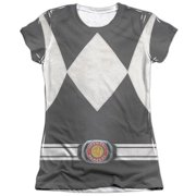 Mighty Morphin Power Rangers Black Ranger (Front Back Print) Juniors Shirt
