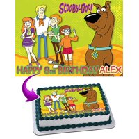 Scooby Doo Edible Image Cake Topper Personalized Icing Sugar Paper A4 Sheet Edible Frosting Photo Cake 1/4 Edible Image for cake