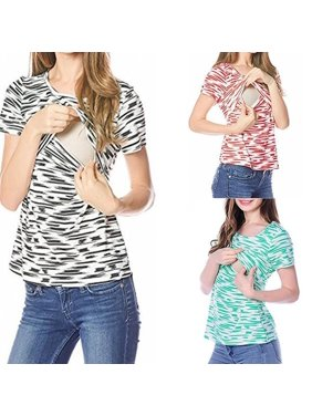 e3e03dbbd5678 Product Image Maternity T-shirt Breastfeeding Nursing Top For Pregnant  Women Shirt Tee Blouse. Honganda