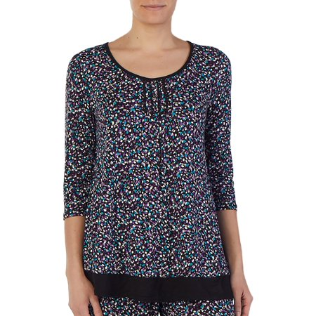 George - George Women s 3 4 sleeve scoop neck sleep shirt - Walmart.com e9a6d56b3