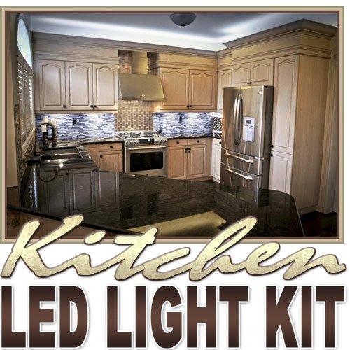 Biltek 2' Ft Cool White Kitchen Valance Microwave LED