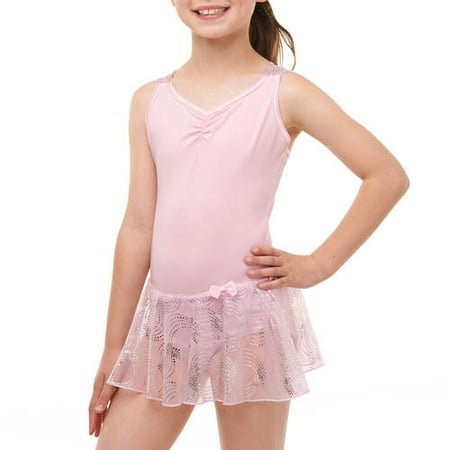 Girls' Skirted Leotard with Criss Cross Back - Girls Leotard
