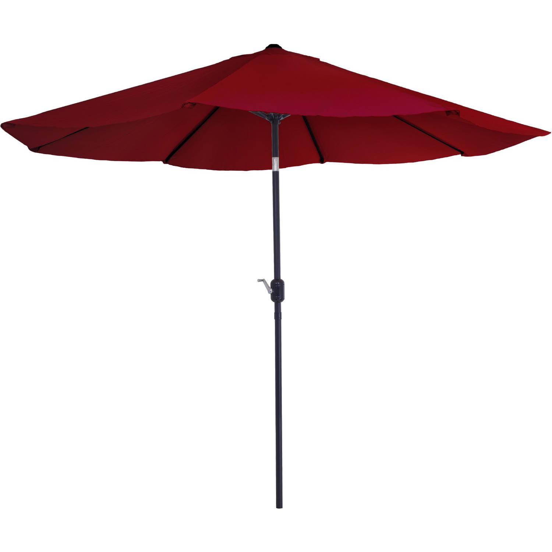 Pure Garden 10u0027 Aluminum Patio Umbrella With Auto Tilt   Walmart.com