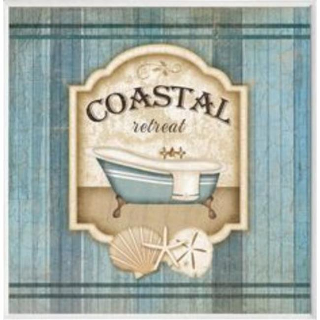 Stupell Industries WRP-1018 Coastal Retreat Square Wall Plaque