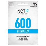 Net10 $45 Basic Prepaid 60-Day Plan e-PIN Top Up (Email Delivery)