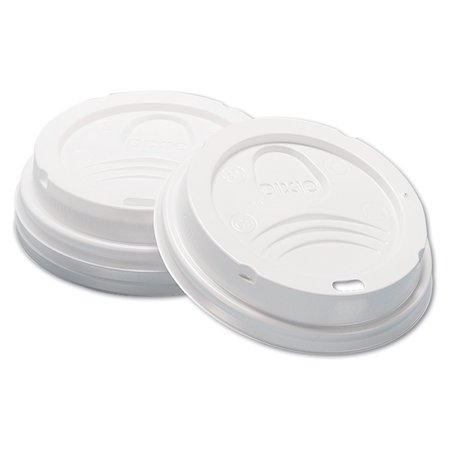 Dixie Dome 8 Oz Hot Drink Lids, White, 100 count -DXED9538