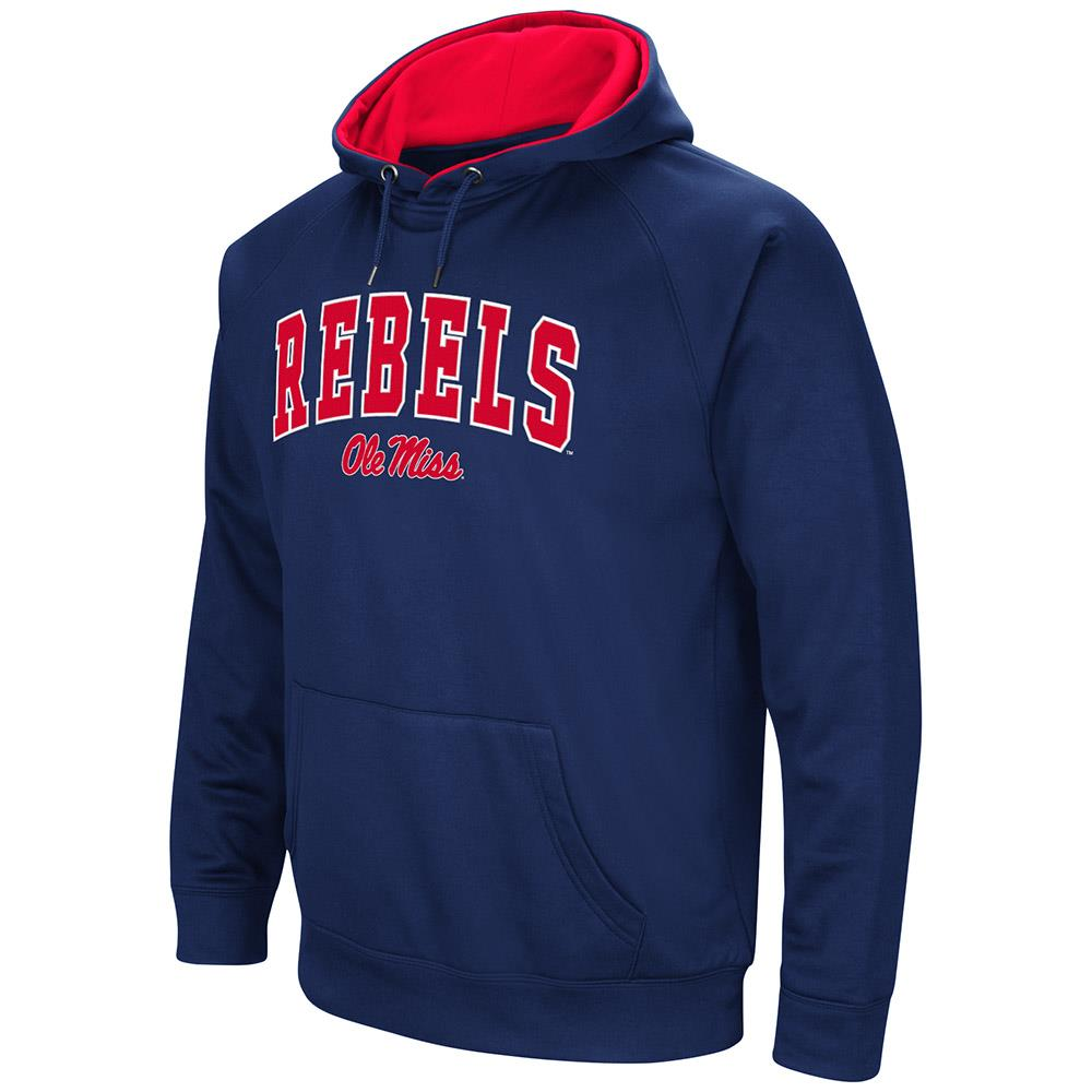 Mens Ole Miss Rebels Fleece Pull-over Hoodie by Colosseum