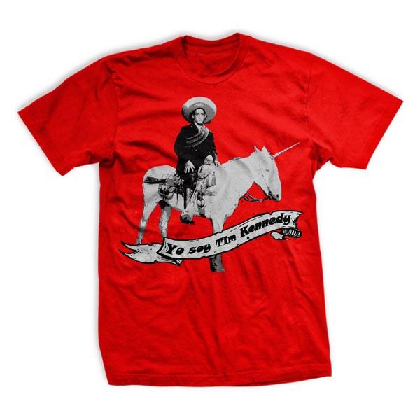 Ranger Up Tim Kennedy Victory Unicorn T-Shirt - Red