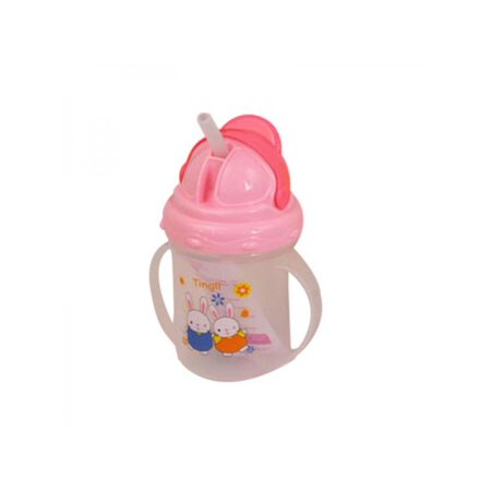 Lavaport Newborn Baby Sippy Straw Cup with Handle Toddler Feeding Drinking Milk Bottle (Toddler Cups For Milk)