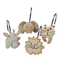 Creative Bath Products Animal Crackers Shower Hooks