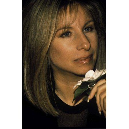 Barbra Streisand with a flower Photo Print