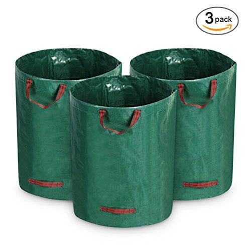 Growneer 3-Pack 72 Gallons Garden Waste Bags Reusable Gardening Lawn Leaf Bags