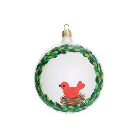 Vietri Ornaments Wreath w/ Red Bird Ornament ()