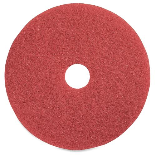 "Genuine Joe Red Buffing Floor Pad - 15"" Diameter - 5/carton - Fiber - Red (gjo-90415)"