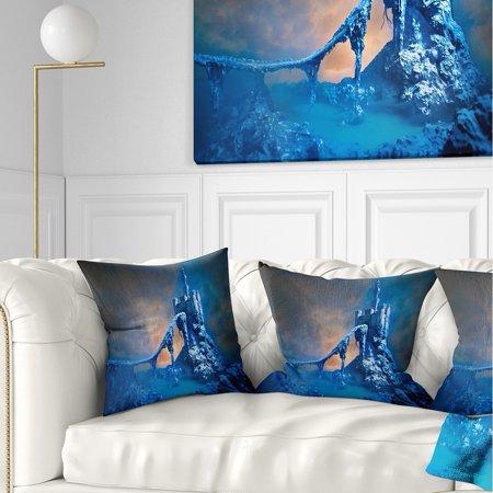 DESIGN ART Designart \'Old Blue Castle\' Contemporary Throw Pillow
