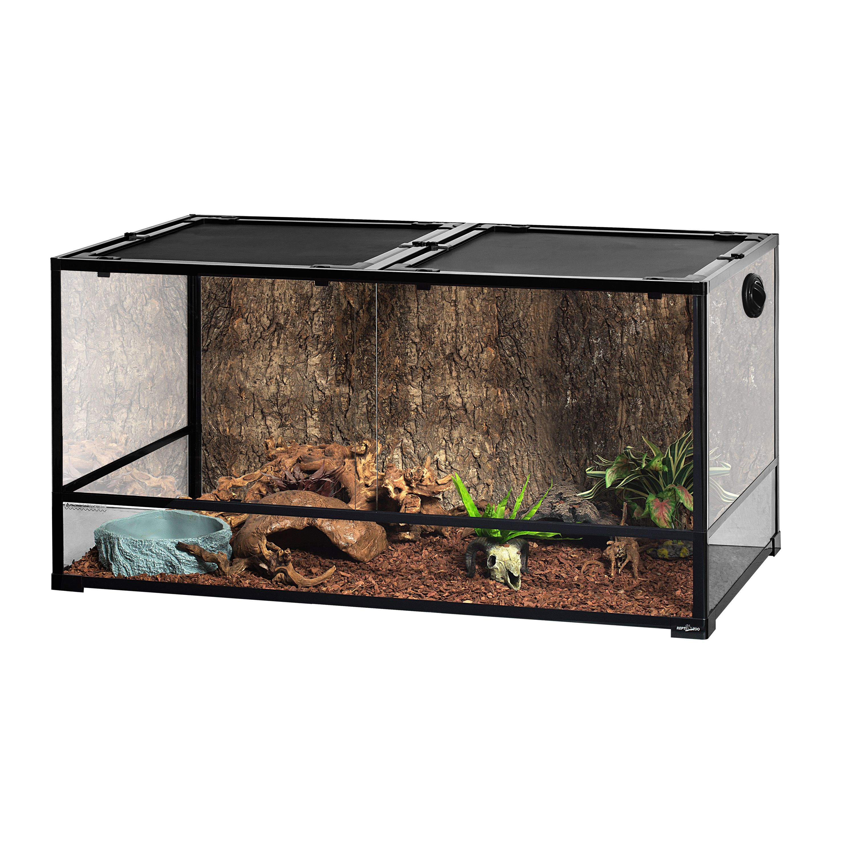 Reptizoo Large Reptile Glass Terrarium Tall Extra Long 48 L X 24 D X 24 H Reptile Terrarium Tank 120 Gallon With Sliding Door And Screen Ventilation Full View Reptile Enclosure