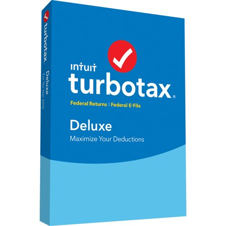 Turbotax Deluxe  No State  For Windows Mac  Tax Year 2016