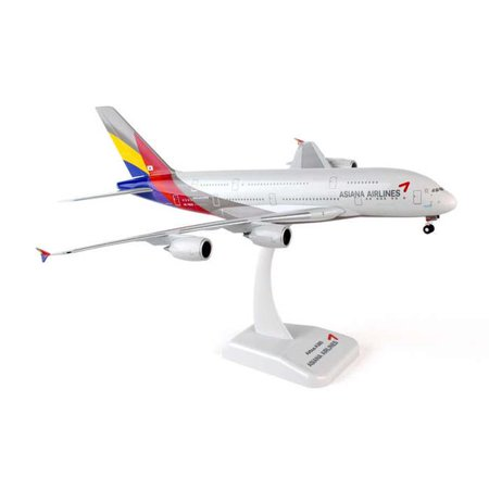 Hogan Wings 1-200 Commercial Models HG0168G 1-200 Asiana A380 REG No.HL7625 with Gear (A380 Gear)