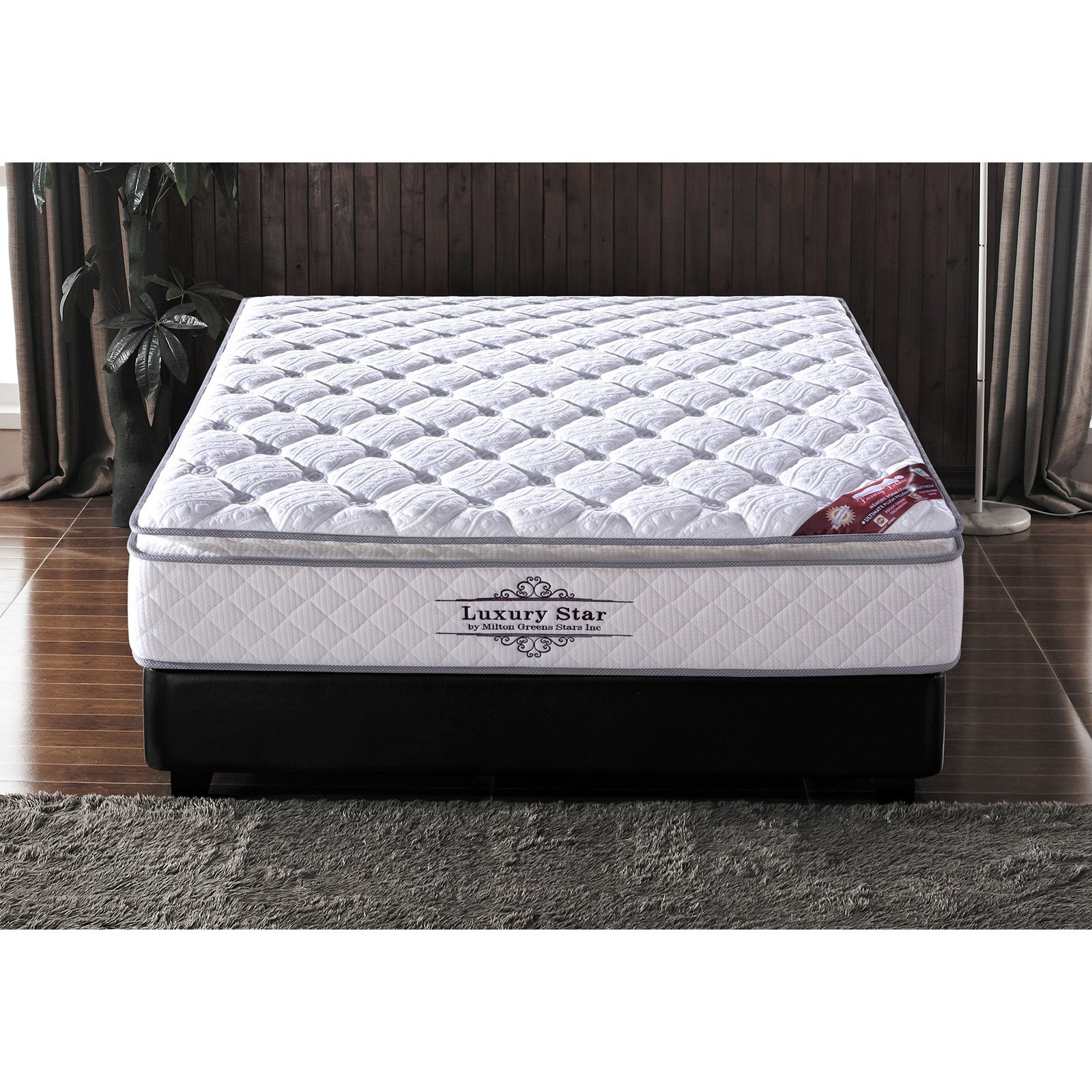 Milton Greens Stars Luxury Star 13 in. Memory Foam and Pocketed Coil Hybrid Mattress