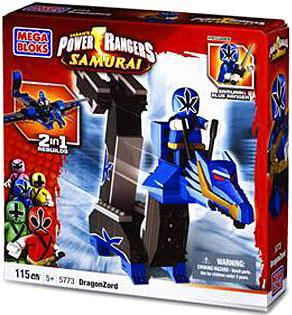 Mega Bloks Power Rangers Samurai Blue Dragon Folding Zord Building Set by Mega Brands