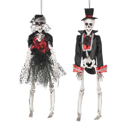 Ganz Halloween Skeletons Let's Party Bride & Groom