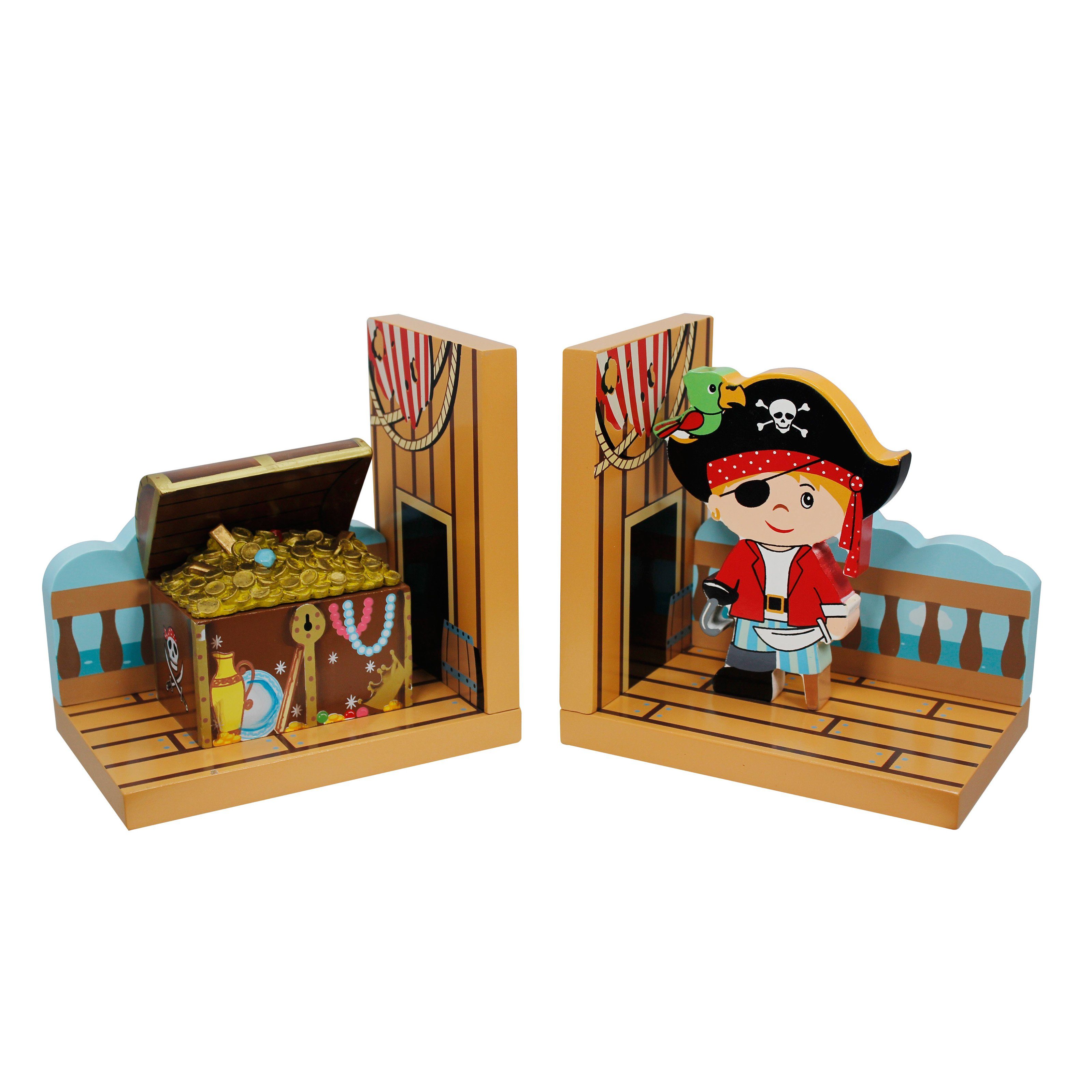 Fantasy Fields Pirate Island Set of Bookends by Teamson