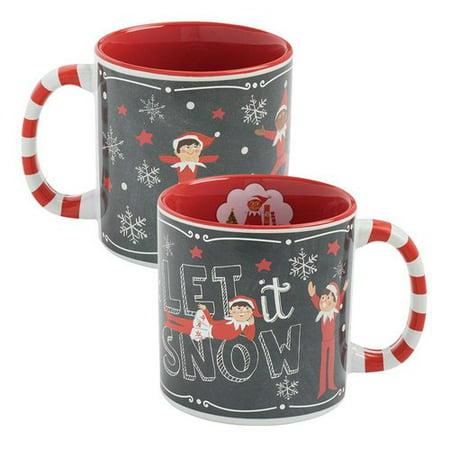 vandor llc the elf on the shelf heat reactive ceramic coffee mug