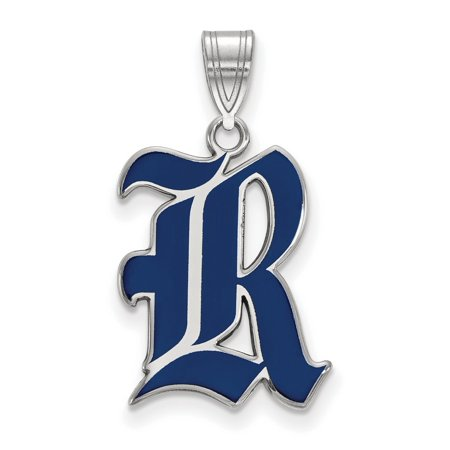 (Rice University Owls Large Pendant in Sterling Silver 1.94 gr)