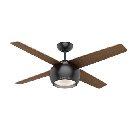 Casablanca 59332 54 in. Valby Matte Black Ceiling Fan with Light and Wall Control